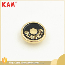 Cheap price metal shiny black&lemon gold rivet button for clothes