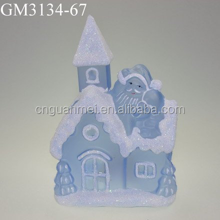 new christmas decoration glass house with led light