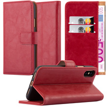 Premium Luxury Leather Wallet Shockproof Stand Case For iphone X
