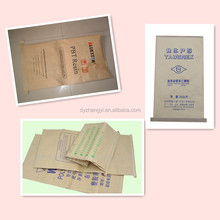 plastic lined kraft paper cement bitumen bag