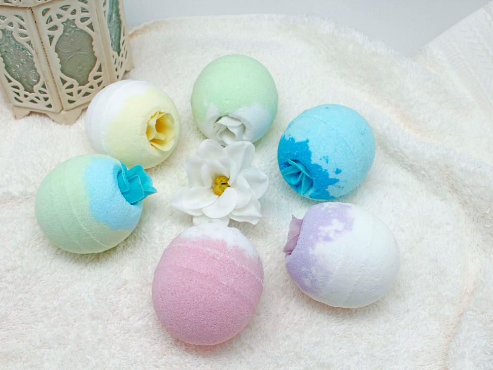 Wholesale colorful butter spa bath fizzer bombs produce two million per month