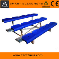 basic mobile stadium stands and aluminum bleachers with plastic seats
