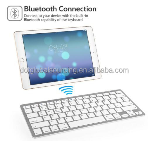Universal Bluetooth Wireless Keyboard Ultra Slim for Computers, Tablets and Smartphones