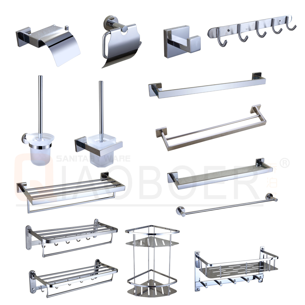 Washroom fixtures chrome sus modern complete bathroom hardware sets ...