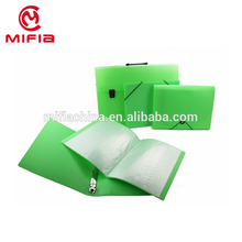 Neon Color a4 size pp file box plastic folder for office stationery