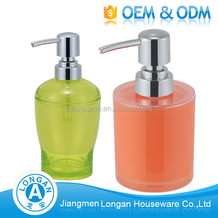 factory custom Hotel bathroom accessories Simple plastic acrylic soap dispenser