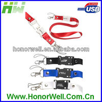 Version 2.0 usb flash drive with Lanyard