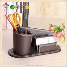 China factory custom official leather pen container