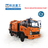 Brand New Truck mounted concrete mixer pump TWCQ30 C7