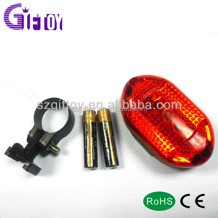 Battery powered led rear light bike