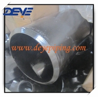 Ms pipe Fittings large size SCH80 Reducing Tee with good quality and good price