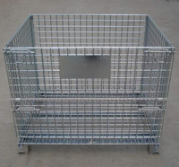 Heavy-duty Industrial Wire Baskets for Warehouse Metal Stack Cage