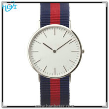 CE/ROHS passed high quality colored stainless steel nylon band watch
