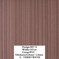 887-8 0.7mm thickness brown vertical strip Leather For decoration, bag,sofa
