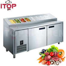Professional Stainless Steel counter pizza display refrigerator
