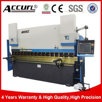 New Accurl 200T 4000mm 4 axis Servo CNC Press Brake for 4 meters Sheet Metal Bending Machine Manufacturer