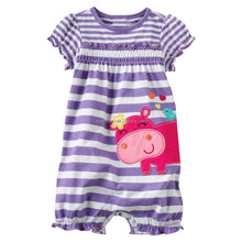 Comfortable cotton girl romper baby clothes in bangkok wholesale