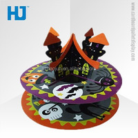 Decorative folding cake stand, round cupcake stand paper cardboard cake stand for party