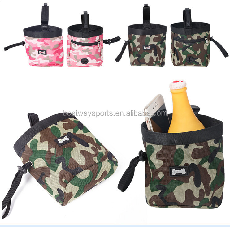 Camuflage Design Pet Treat Tote Outdoor Dog Treat