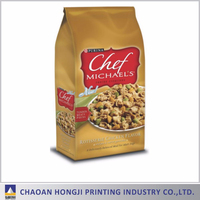 big discount oem accepted pet food packaging square bottom plastic bag
