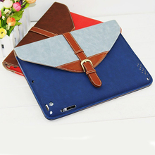 360 Degree Rotating Smart Cover Stand Belt Flip Leather Case for iPad 5, leather cover