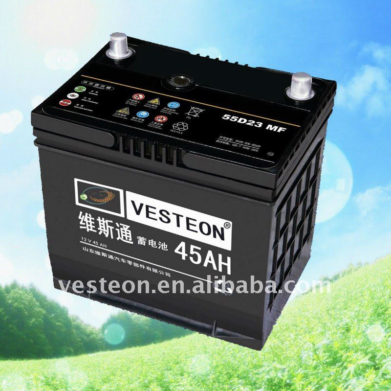 Popular warranted car battery 12V32Ah-200Ah