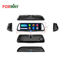 cheap price rearview mirror with gps bluetooth camera factory