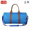 assorted solid color polyester round travelling duffle bag with PU handle