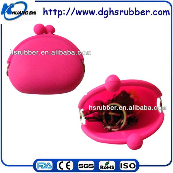 Factory Direct Sale Colorful Fashional Silicone Purse Wholesale
