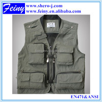 Wholesale Multipocket outdoors Fishing Vest