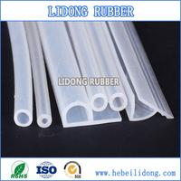 Food grade solid silicone rubber tube, clear transparent FDA silicone hose tube, high performance