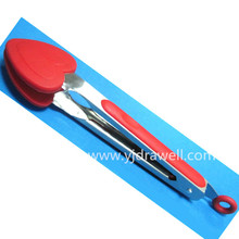 FT-5645 Heart Shape silicone food tong