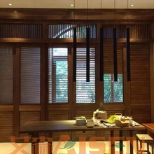 Easy to clean and comfort enjoyment stain color Plantation Shutters