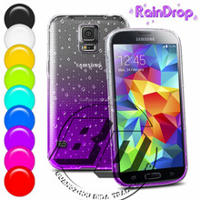 Manufacturer Wholesale Raindrops Gradient Protective TPU Soft Case For Samsung Galaxy S5 mini lowest price