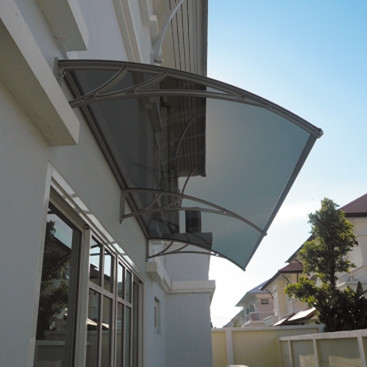 Outdoor DIY plastic polycarbonate window canopy designs large shade 1200mm depth