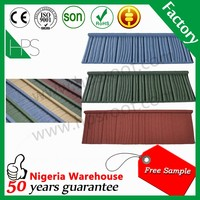 Guangzhou Manufacturer SONCAP Certificate stone chip coated steel metal roof tile