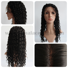 Alibaba Hot Selling 6mm Curl Silk Base Full Lace Wigs Cap for Romantic Lady
