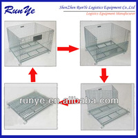 Mesh Pallet Grid Frame Folding Wire Mesh Container