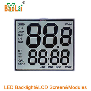 Custom Size Small Round Luminous backlight LCD Screen