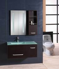 Classic Design MDF Glass Wash Basin bathroom Mirror Cabinet