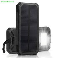 Dual Output 15000mAH Solar Power Bank Waterproof Solar Battery Maintainer Charger Outdoors for Traveling