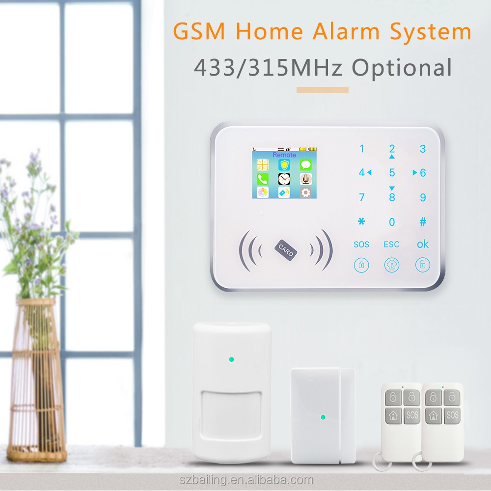 TFT panel touch keypad 88 Wireless home Security addressable fire alarm system with smoke alarm guardian security