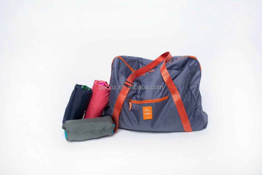 2015 customed travel trolley 600d polyester sport foldable duffle bag big traveling bag