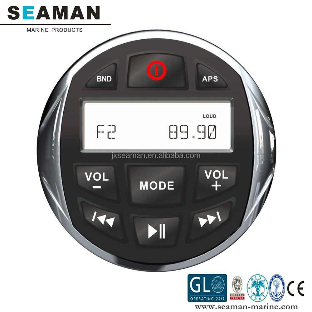 new design IP66 Waterproof Marine Stereo MP3 player With Bluetooth for Motorcycle Boat Yatch SPA ATV