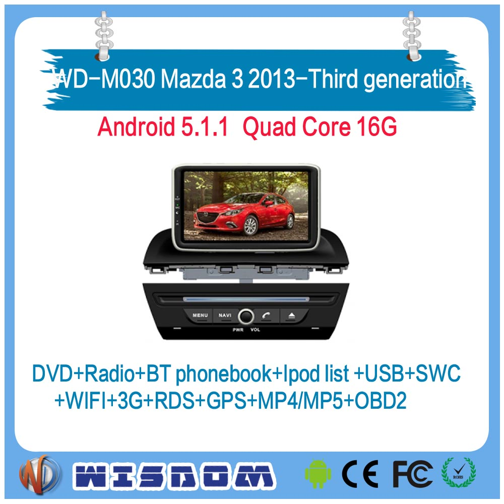 New and original car radio system for Mazda 3 2013 2014 2015 2016 2017/Third generation wince operation system 2 din car stereo