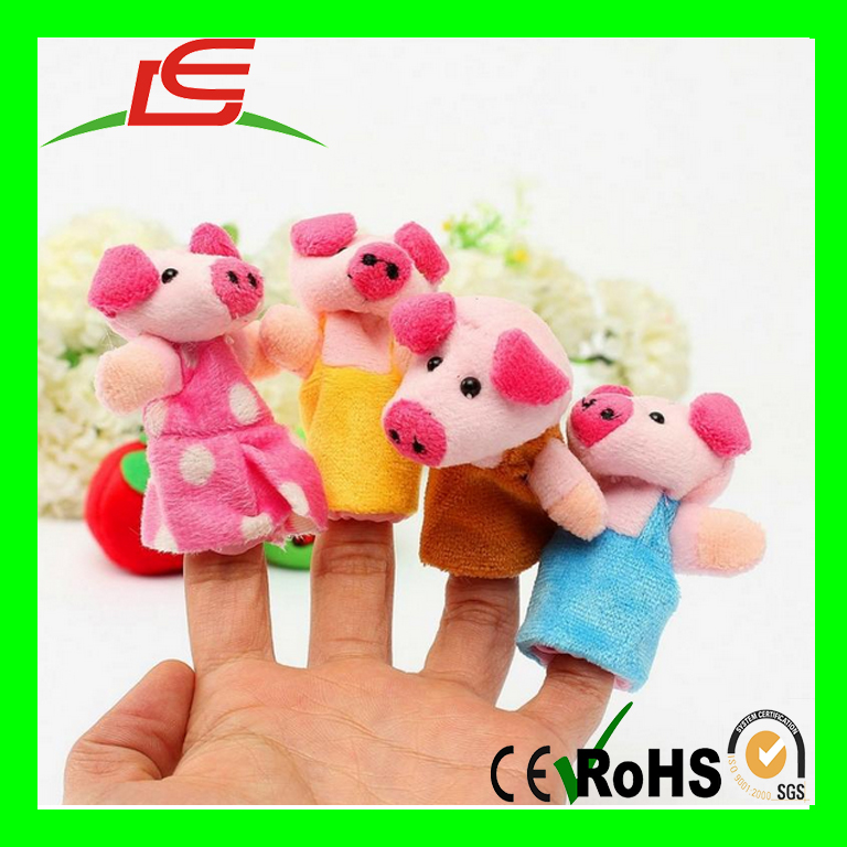 Lovely Toys Family Plush Animal Finger Puppet