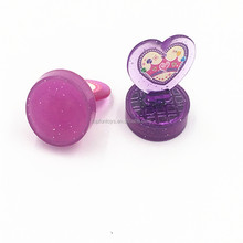 Valentine's day heart shape plastic seal kit stamp