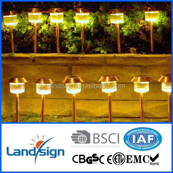Solar stainless steel lights outdoor XLTD-300C garden spike led light