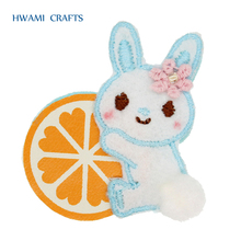 Rabbit Shape Hair Accessories fruits printing Kids Hair pins P-1071