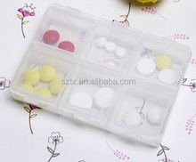 8*6*1.5cm 6 compartments daily pill organizer